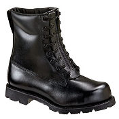 "Thorogood 8"" Front Zip Oblique Toe Station Boot Safety Toe"