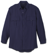 Workrite Fire Officer Shirt, Long Sleeve, Midnight Navy