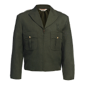 United Uniform Mfr. Zippered Front Ike Jacket, Forest Green