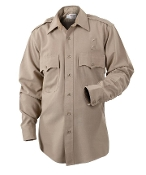 Elbeco Long Sleeve Heavyweight Poly/Wool Shirt, Silver Tan